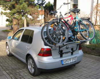 Heck-Fahrradträger an Auto